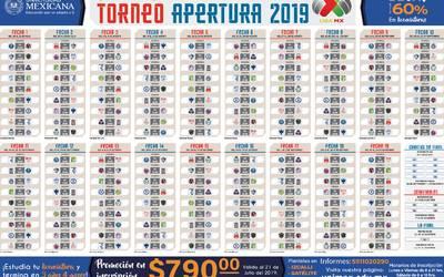 Liga Bbva Calendario 2019.Listos Las Fechas Y Horarios Del Apertura 2019 De La Liga Mx La Prensa