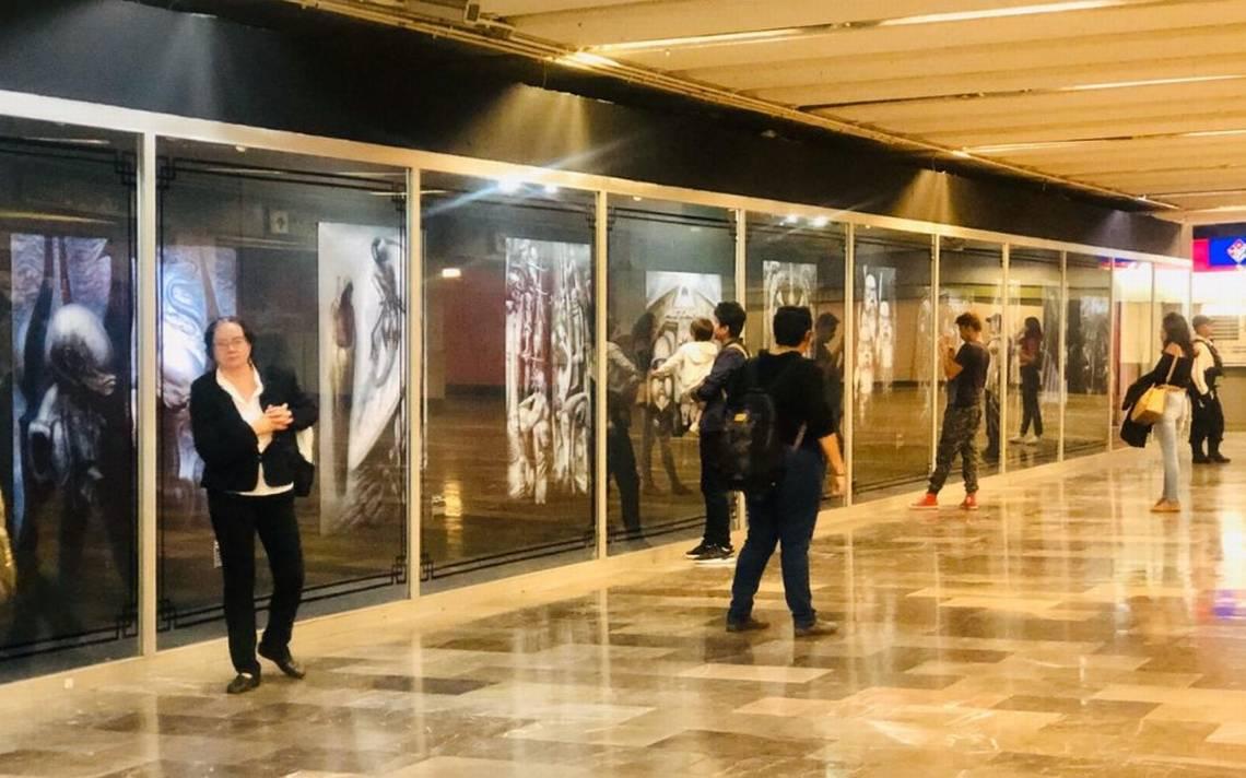 Resultado de imagen para exposición de alien en el metro