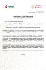 Comunicado Contrato Colectivo Pemex